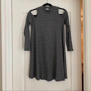 Soprano Cold Shoulder Glitter Dress